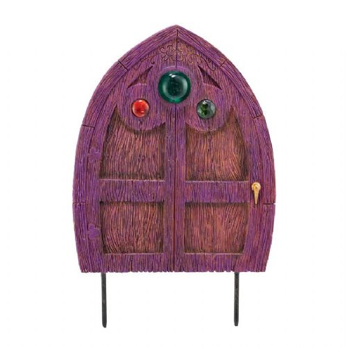 Enchanted Guardians Purple Jewelled Door Stake